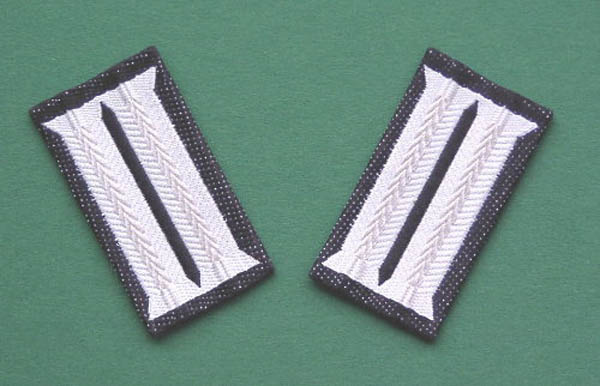 Kragenspiegel (Uniformjacke), Bw grau mit schwarzer Umrandung ne