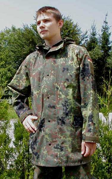 Regenjacke, Bw Goretex 5-Farben flecktarn neu