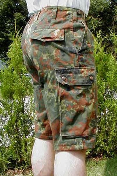 Bermuda-Feldhose, Bw flecktarn gebraucht/rep.