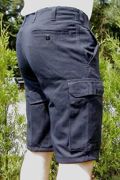Bermuda-Bordhose, Bw blau gebraucht/rep.