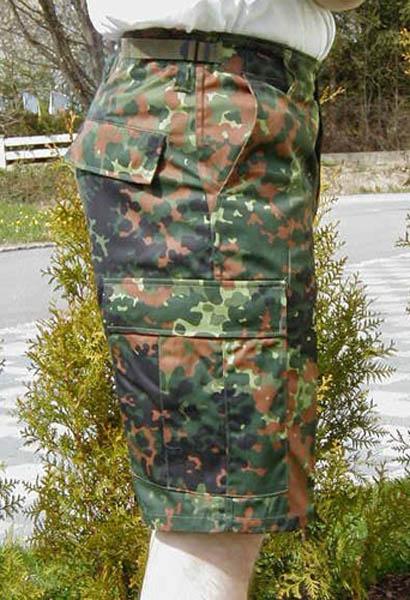 Bermuda-Short, US 5-Farben flecktarn neu