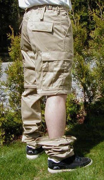 Jungle-Hose, US khaki neu (RV, Beine abnehmbar)