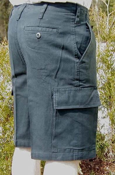 Bermuda-Feldhose, Bw Imit. schwarz neu (stone-washed)