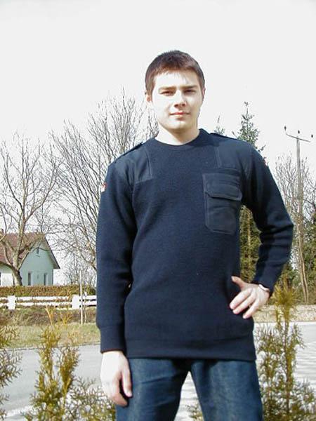 Pullover, Bw blau gebraucht/rep.