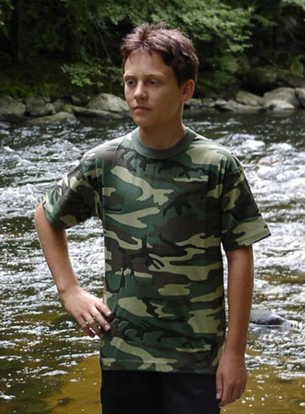 T-Shirt, Kinder woodland neu