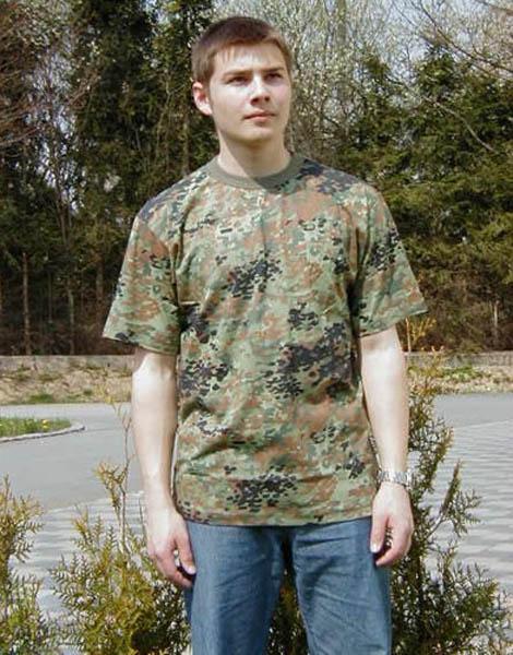 T-Shirt, US 5-Farben flecktarn neu