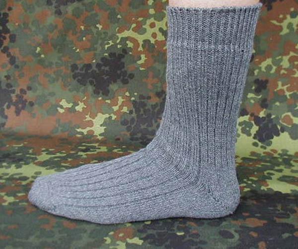 Socken, Bw grau kurz neu