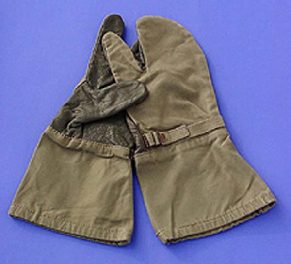 Überhandschuhe (3-Finger), Bw oliv gebraucht/rep.