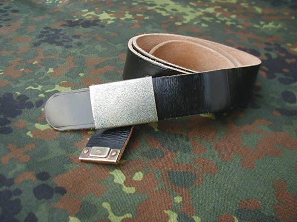 Ledergürtel, Bw schwarz gebraucht/rep.