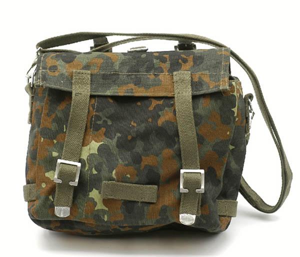 Kampftasche mit Tragegurt, Bw Imit. klein 5-Farben flecktarn neu