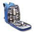 Picknick-Rucksack, mit Edelstahlgeschirr für 4 Personen, neu