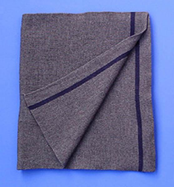 Schal, Bw Wolle grau gebraucht/rep.