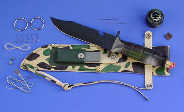 Überlebensmesser Commando, 6 Klinge, tarn neu