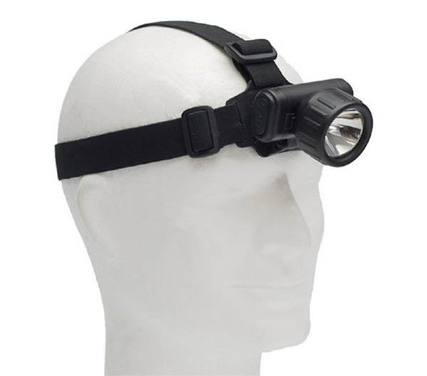 Stirnlampe, schwarz (für Batterien 2 x AA)