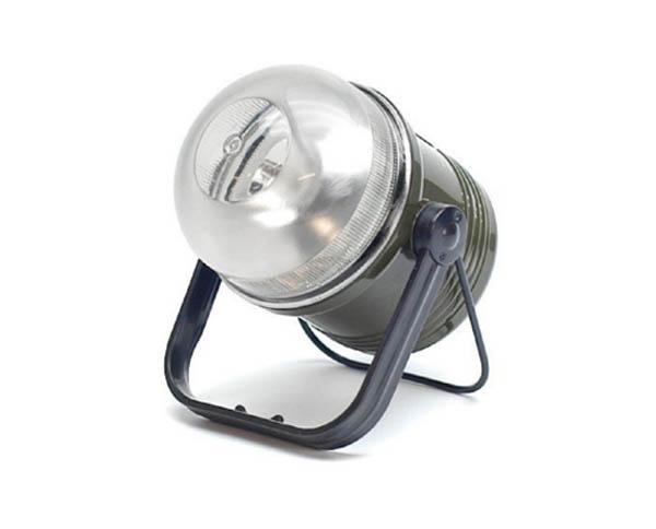 Camping-Lampe, oliv (für Batterien 4 x D)