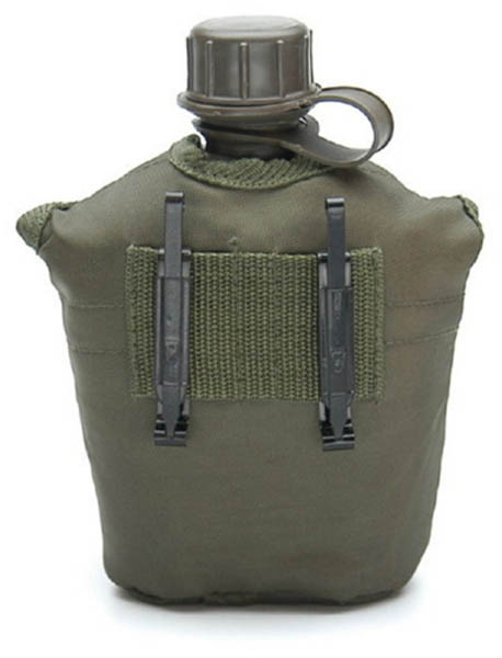 Feldflasche, US G.I. PVC neu (Überzugfarbe: oliv)