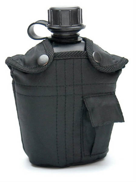 Feldflasche, US G.I. PVC neu (Überzugfarbe: schwarz)