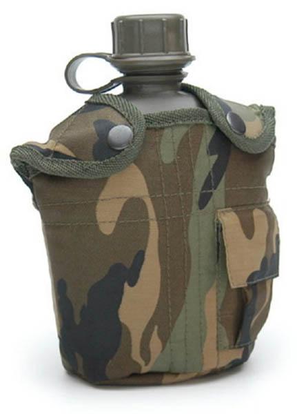Feldflasche, US G.I. PVC neu (Überzugfarbe: wodland)