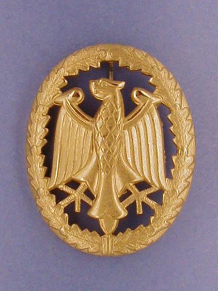 Leistungsabzeichen, Bw Metall neu (Gold)