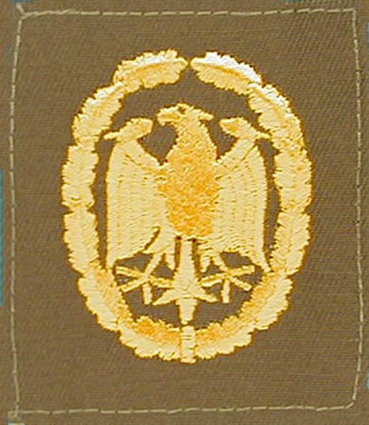 Leistungsabzeichen, Bw Stoff neu (Gold)