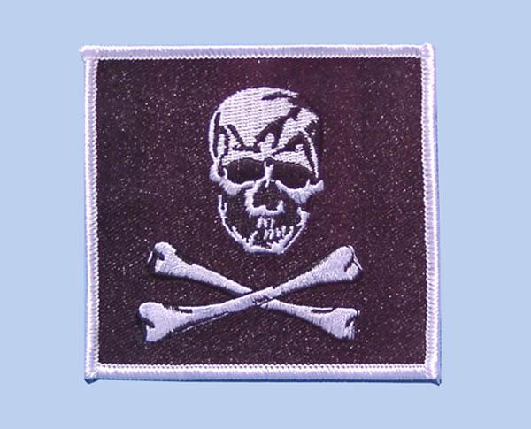 Abzeichen, Totenkopf schwarz neu