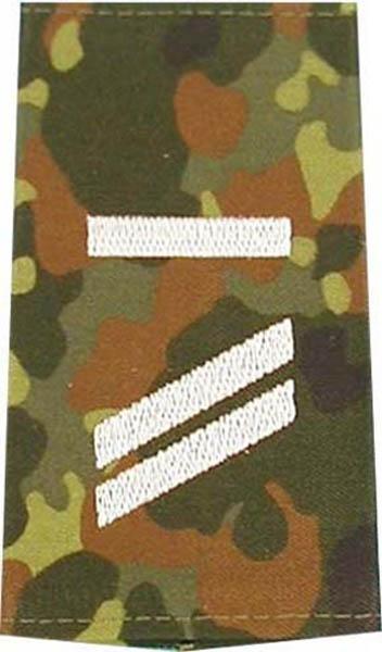 Rangabzeichen, Bw Heer tarn/silber Obergefreiter UA