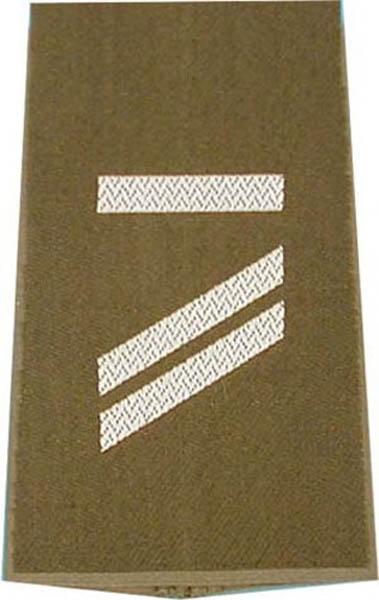 Rangabzeichen, Bw Heer oliv/silber Obergefreiter UA