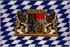 Flagge, Bayern mit Wappen und Löwen neu