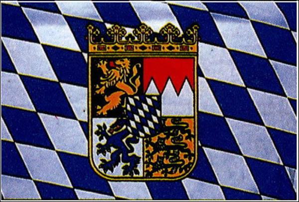 Flagge, Bayern mit Wappen neu