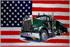 Flagge, U.S.A. mit Truck neu