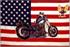 Flagge, U.S.A. mit Bike neu