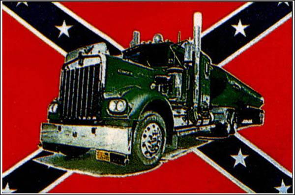 Flagge, Südstaaten mit Truck neu
