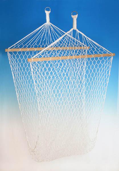Hängematte, Netz mit Querhölzern, natur neu