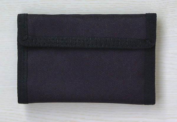 Geldbeutel (mit Klettverschluss), Nylon schwarz neu