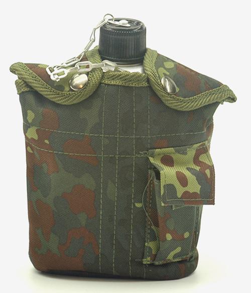 Feldflasche mit TrinkbecherUS ALU neu (Überzugfarbe: 5-Farben flecktarn),