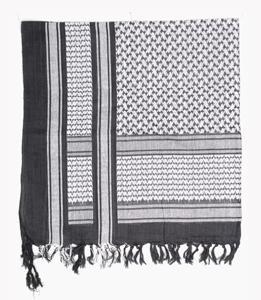 PLO-Kopftuch,schwarz-weiß neu
