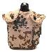 Feldflasche mit Trinkbecher,US ALU neu (Überzugfarbe: 3-Farben tropentarn)