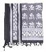 PLO-Kopftuch,schwarz-weiß mit Totenköpfen neu