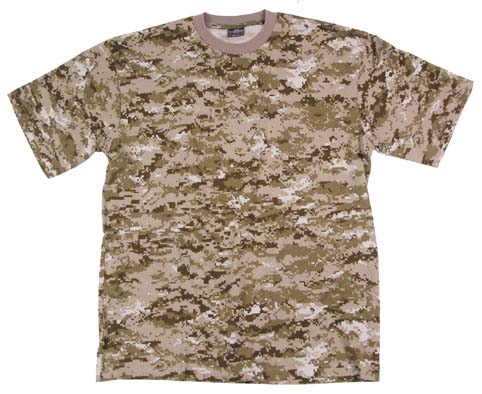 US T-Shirt, halbarm, digital- desert, 170g/m²