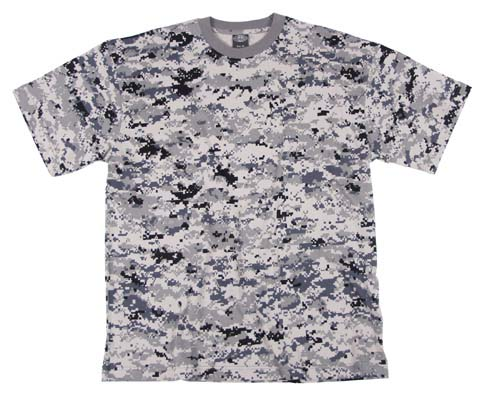 US T-Shirt, halbarm, digital- urban, 170g/m²