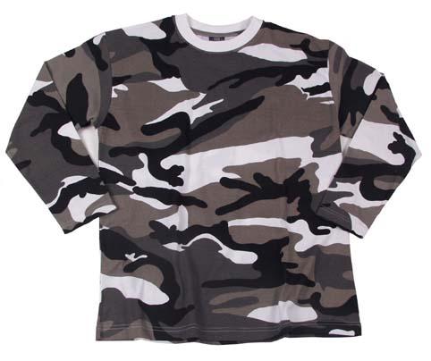 US Tarn-Shirt, langarm, urban, 160g/m²