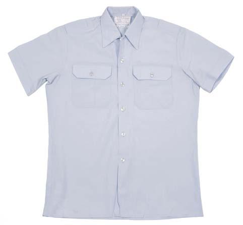 BW Ausgehhemd, blau, kurzarm, gebr., rep.