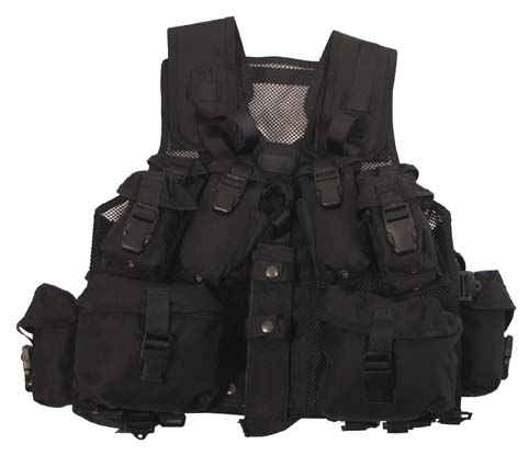 Kan.Tactical Weste,Assorted, Netzeinsatz, schwarz