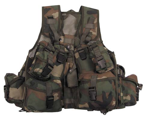 Kan.Tactical Weste,Assorted, Netzeinsatz, woodland