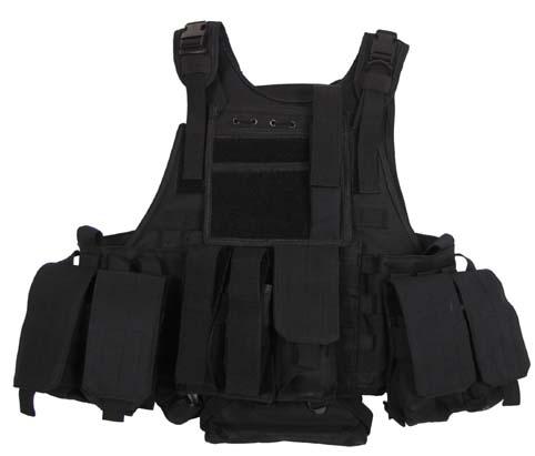 Weste, Ranger, div. Taschen, schwarz, Modular System, 5 Ta.