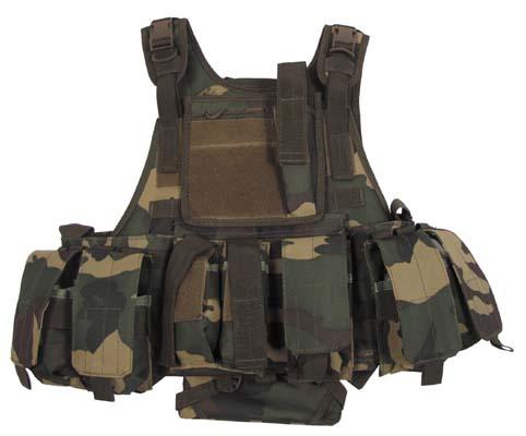 Weste, Ranger, div. Taschen, woodland, Modu. System, 5 Ta.