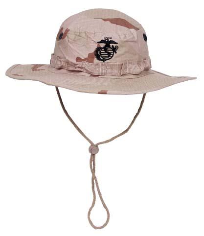 USMC Buschhut, Kinnband, 3 Farben desert, Boonie