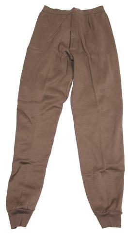 US Unterhose, lang, braun, orig. Polypropylen