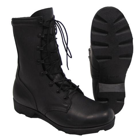 US Combat Boots, schwarz, Leder, orig. US