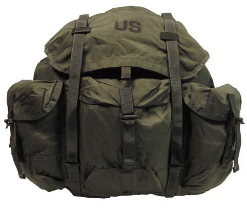 US Rucksack,Alice Bag oliv, large, Metallgestell, original